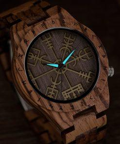 BOBO BIRD Male Watch Wooden Men watches Golden Compass Guide Luminous Hands Wristwatch In Gift box 2