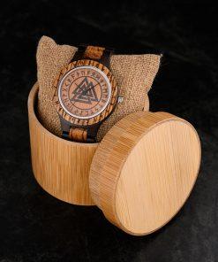 BOBO BIRD Wood Men Watches Viking Valknut Watch relogio masculino Come Bamboo Box Customize Dropshipping 1