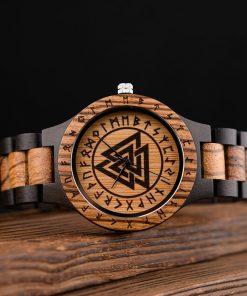 BOBO BIRD Wood Men Watches Viking Valknut Watch relogio masculino Come Bamboo Box Customize Dropshipping 3