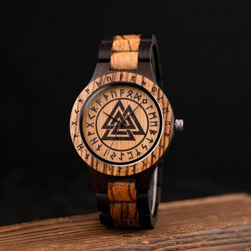 BOBO BIRD Wood Men Watches Viking Valknut Watch relogio masculino Come Bamboo Box Customize Dropshipping