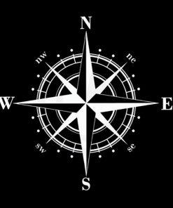 15cm 15cm Art Design Vinyl NSWE Compass Car Stickers Decals Black Silver S6 3505 1