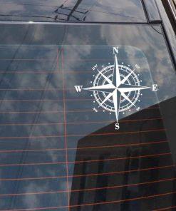15cm 15cm Art Design Vinyl NSWE Compass Car Stickers Decals Black Silver S6 3505 2