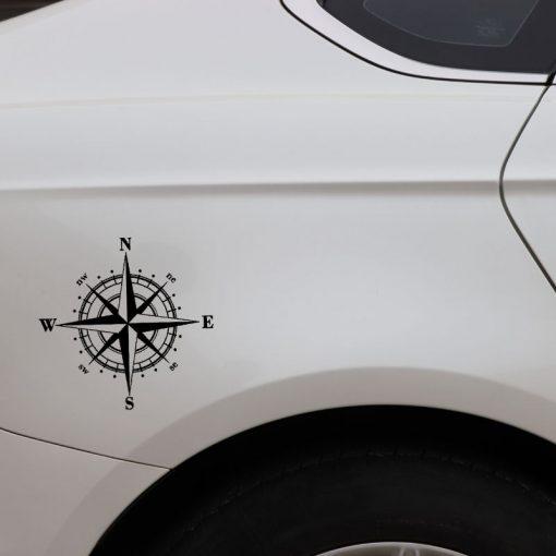 15cm 15cm Art Design Vinyl NSWE Compass Car Stickers Decals Black Silver S6 3505 3
