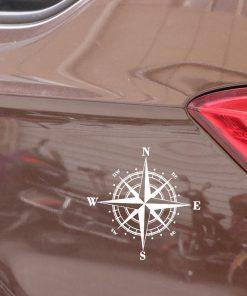 15cm 15cm Art Design Vinyl NSWE Compass Car Stickers Decals Black Silver S6 3505 5