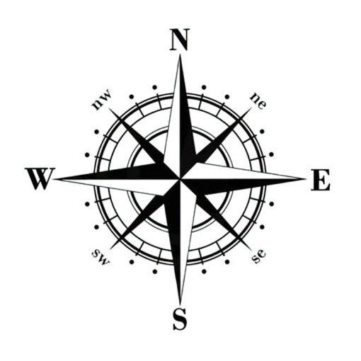15cm 15cm Art Design Vinyl NSWE Compass Car Stickers Decals Black Silver S6 3505