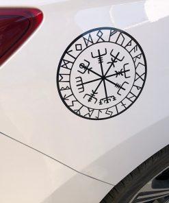 15cm 15cm Originality Compass Rune Vinyl Car styling Decal Motorcycle Car Sticker S6 3521 5